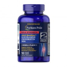 Triple Strength Glucosamine & Chondroitin with MSM (90 caplets) Puritan's Pride